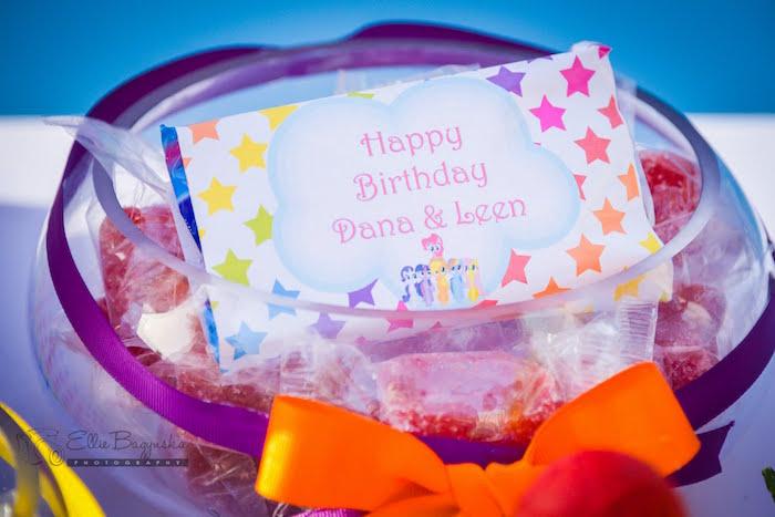 Favor dish from a My Little Pony Birthday Party via Kara's Party Ideas   KarasPartyIdeas.com (23)