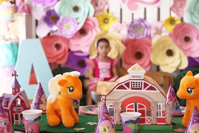 Table centerpieces + kid tablescape from a My Little Pony Birthday Party via Kara's Party Ideas | KarasPartyIdeas.com (16)