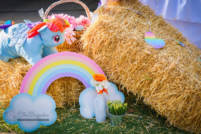 Hay bail decoration from a My Little Pony Birthday Party via Kara's Party Ideas   KarasPartyIdeas.com (22)