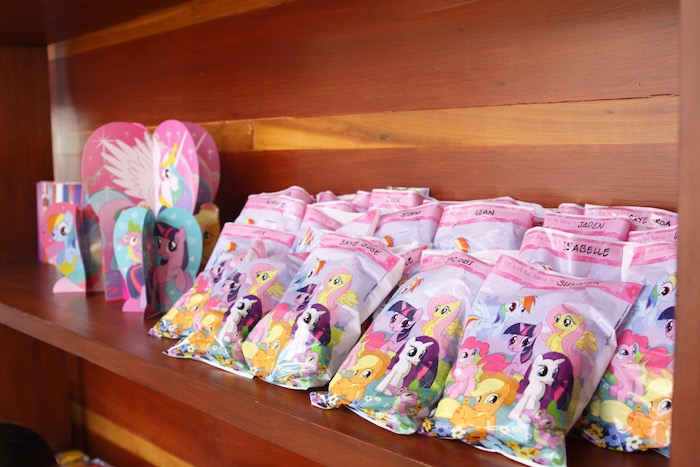 Favor sacks from a My Little Pony Birthday Party via Kara's Party Ideas | KarasPartyIdeas.com (15)