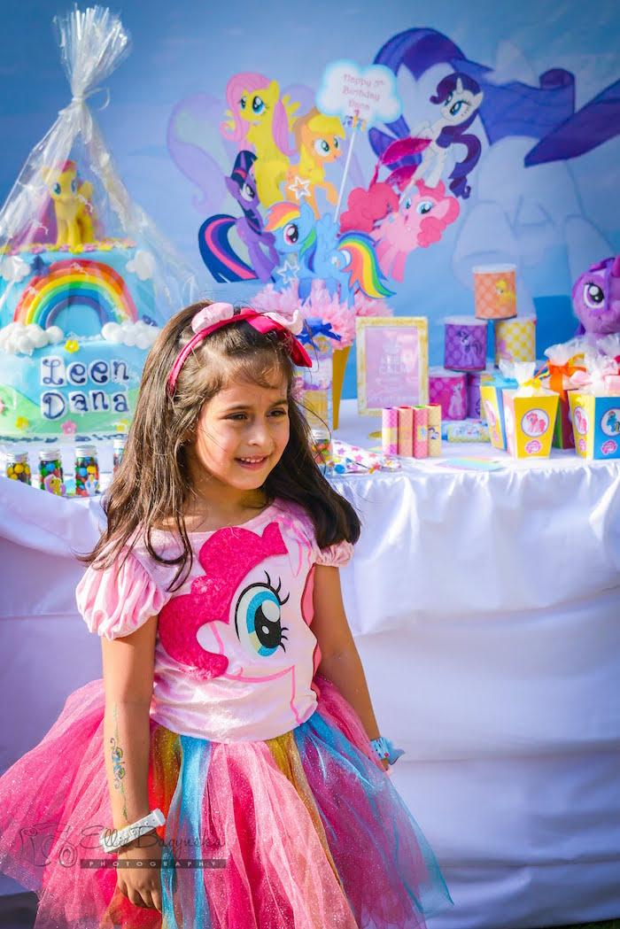 Birthday girl from My Little Pony Birthday Party via Kara's Party Ideas   KarasPartyIdeas.com (21)