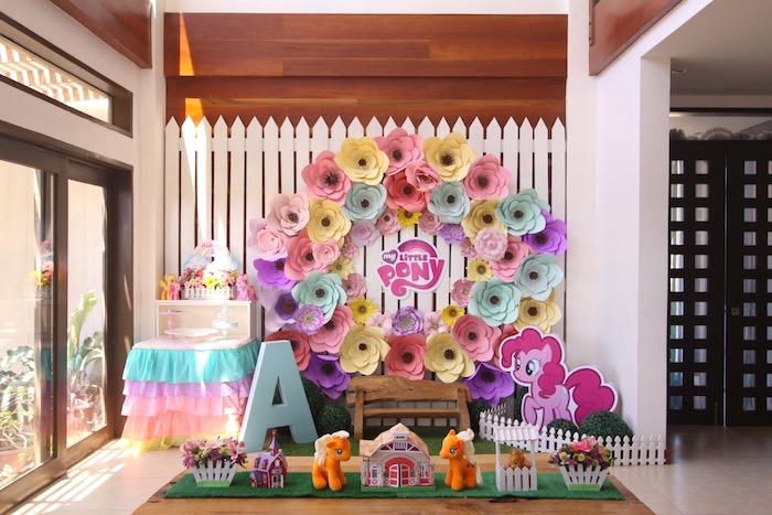 Kid table from a My Little Pony Birthday Party via Kara's Party Ideas | KarasPartyIdeas.com (33)