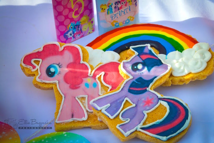 My Little Pony cookies from a My Little Pony Birthday Party via Kara's Party Ideas | KarasPartyIdeas.com (39)