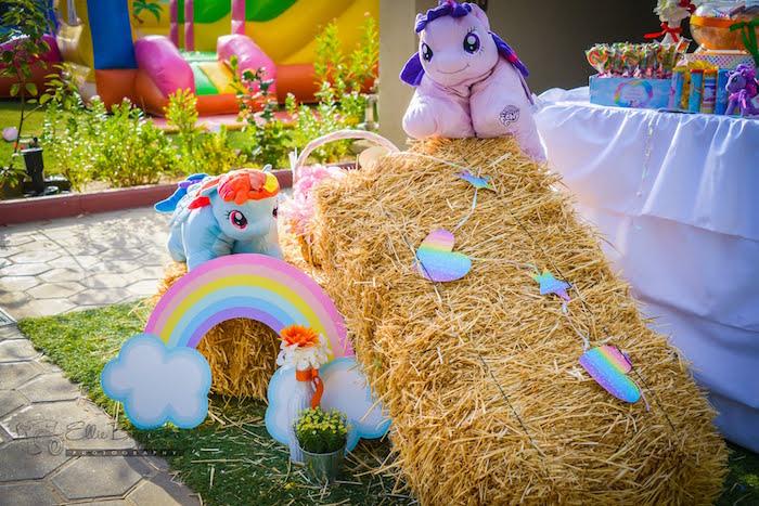 Hay bail decor from a My Little Pony Birthday Party via Kara's Party Ideas   KarasPartyIdeas.com (20)