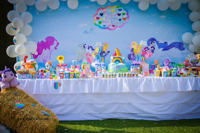 My Little Pony Dessert Tablescape from a My Little Pony Birthday Party via Kara's Party Ideas | KarasPartyIdeas.com (18)