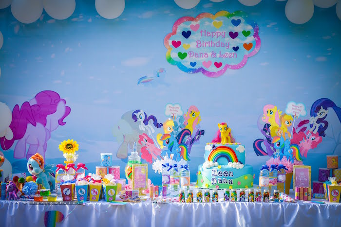 My Little Pony Tablescape from a My Little Pony Birthday Party via Kara's Party Ideas | KarasPartyIdeas.com (17)