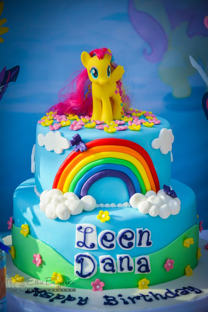 My Little Pony Cake From A Birthday Party Via Karas Ideas