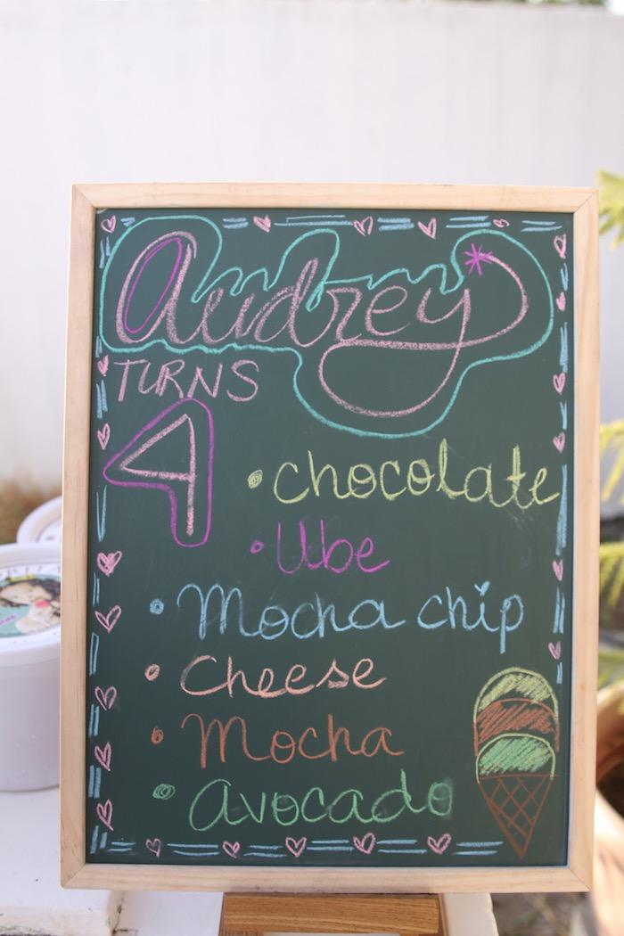 Chalkboard menu from a My Little Pony Birthday Party via Kara's Party Ideas | KarasPartyIdeas.com (9)