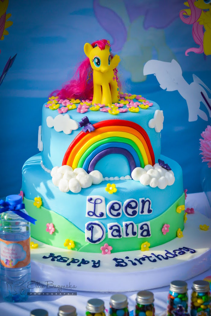 Karas Party Ideas My Little Pony Cake from a My Little Pony