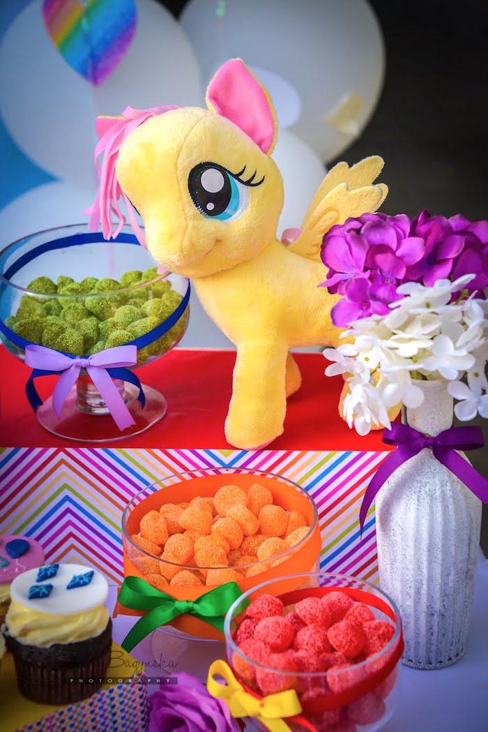 Mini candy buffet from a My Little Pony Birthday Party via Kara's Party Ideas   KarasPartyIdeas.com (12)