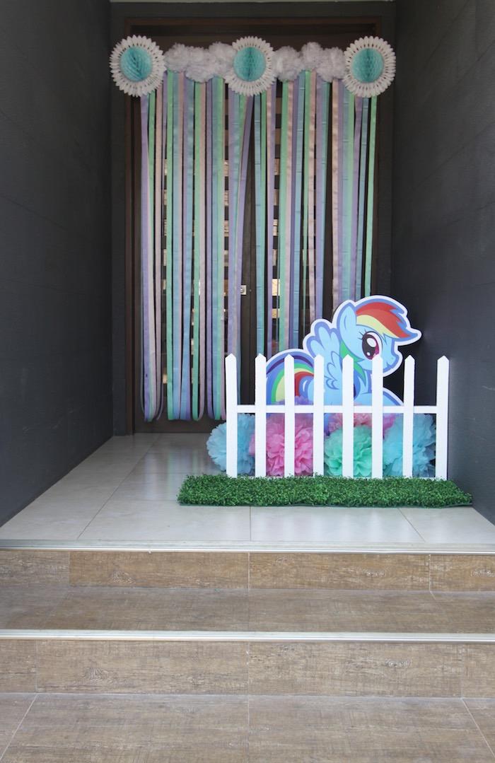 Entrance to a My Little Pony Birthday Party via Kara's Party Ideas | KarasPartyIdeas.com (3)