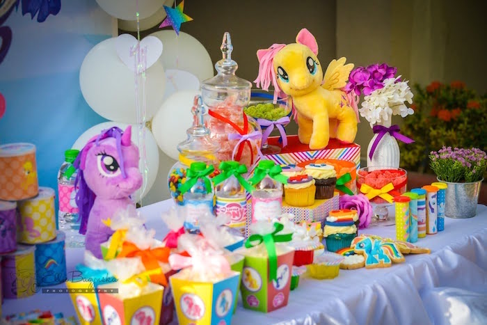My Little Pony Tablescape from a My Little Pony Birthday Party via Kara's Party Ideas | KarasPartyIdeas.com (9)