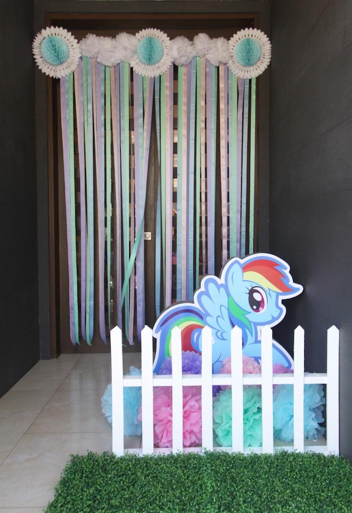 Entrance to a My Little Pony Birthday Party via Kara's Party Ideas | KarasPartyIdeas.com (2)