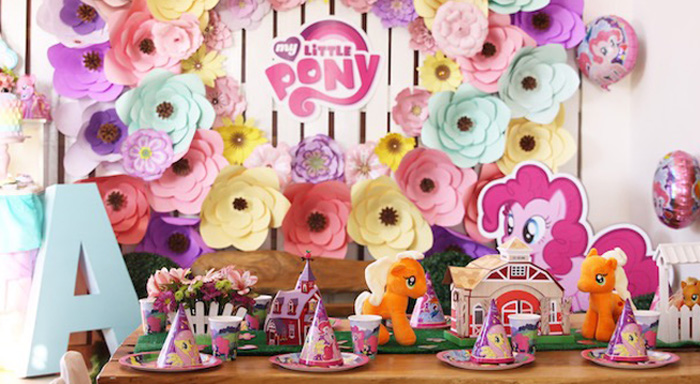 Kid table from a My Little Pony Birthday Party via Kara's Party Ideas | KarasPartyIdeas.com (1)