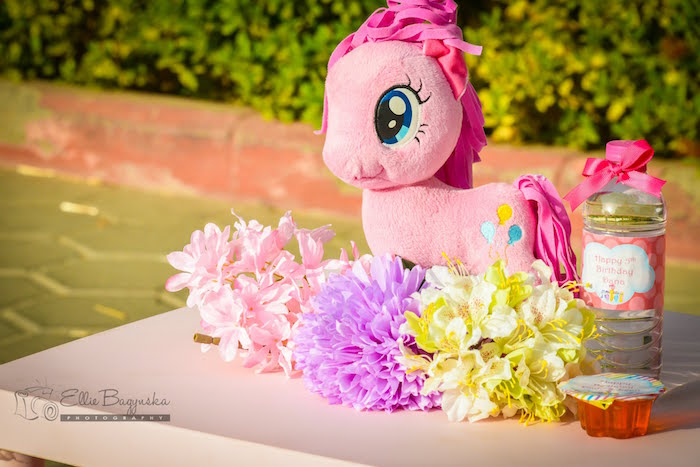 Guest table centerpiece from a My Little Pony Birthday Party via Kara's Party Ideas | KarasPartyIdeas.com (7)