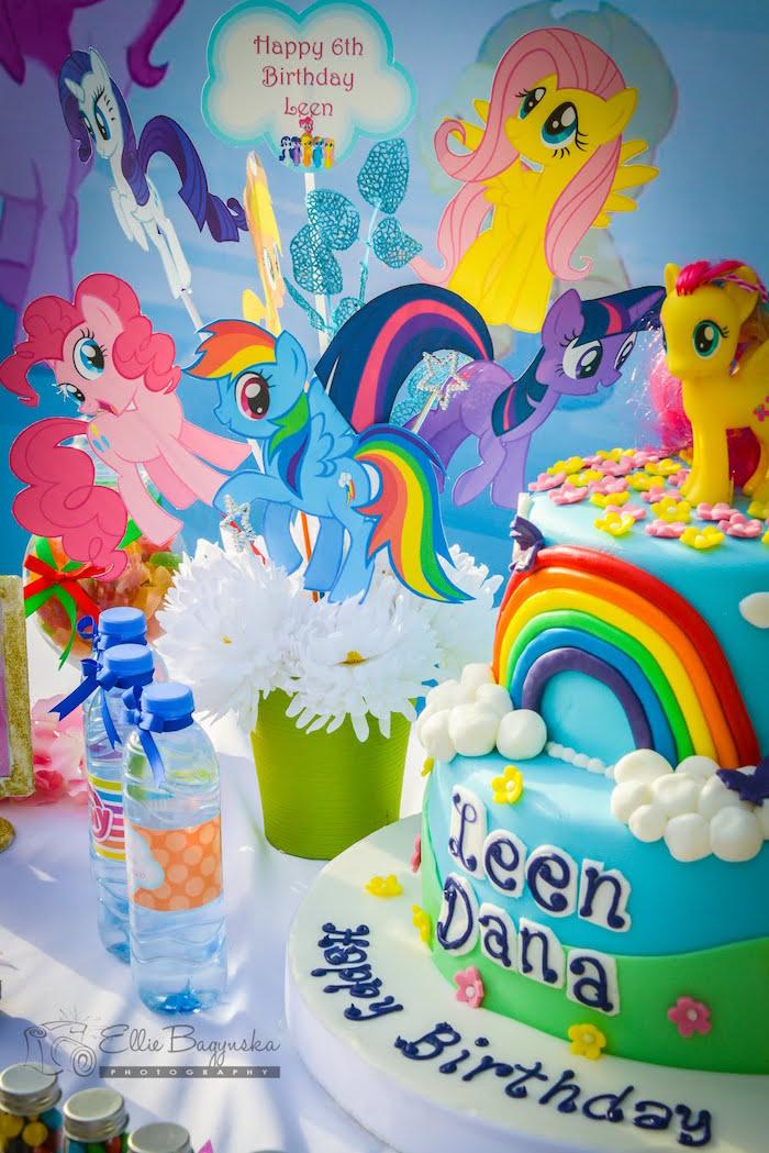 Fabulous Karas Party Ideas My Little Pony Birthday Party Karas Party Ideas Funny Birthday Cards Online Overcheapnameinfo