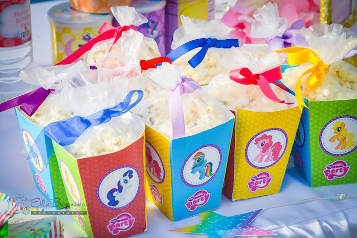 My Little Pony popcorn boxes from a My Little Pony Birthday Party via Kara's Party Ideas | KarasPartyIdeas.com (5)