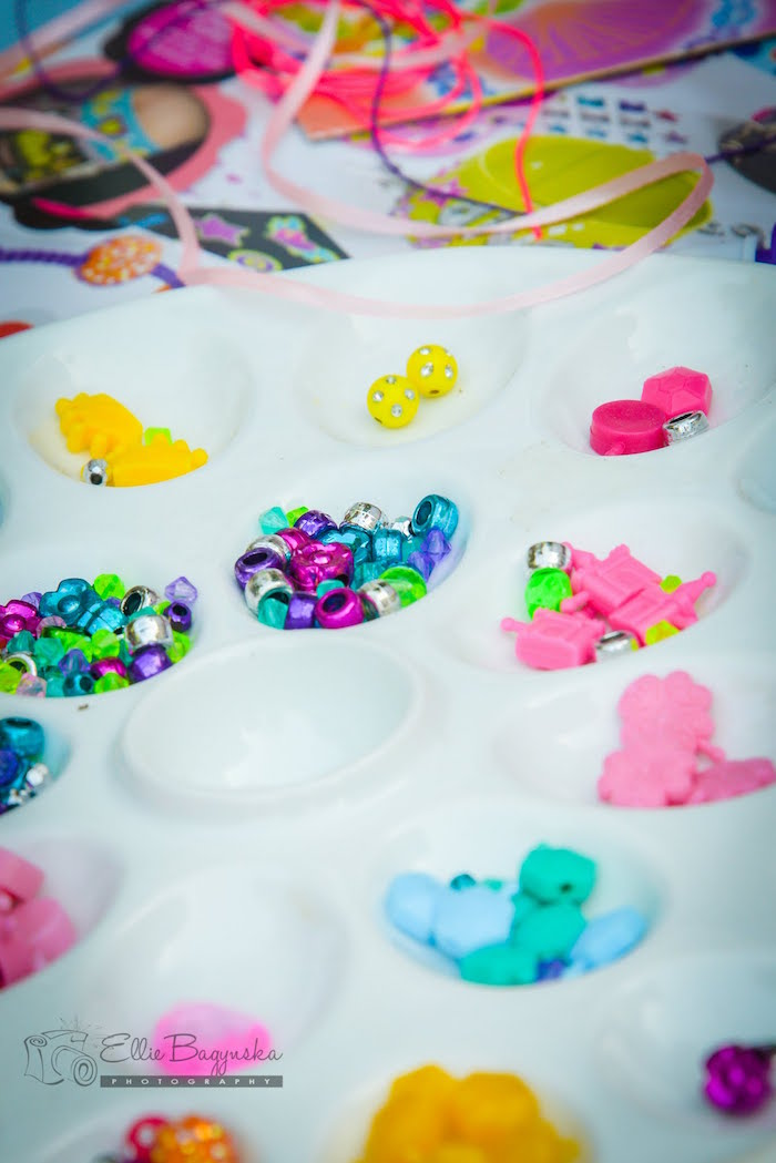 Beads + jewels from a My Little Pony Birthday Party via Kara's Party Ideas | KarasPartyIdeas.com (3)