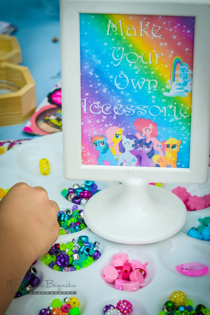 My Little Pony Accessory Creation Station From A Birthday Party Via Karas