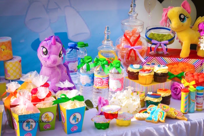 Snacks + sweets + favors from a My Little Pony Birthday Party via Kara's Party Ideas | KarasPartyIdeas.com (37)