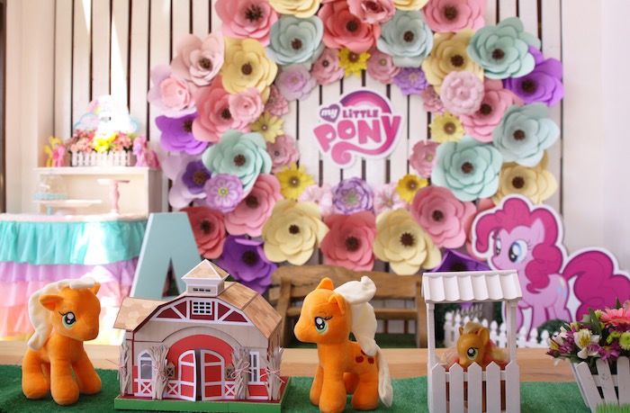 Kid table centerpieces from a My Little Pony Birthday Party via Kara's Party Ideas | KarasPartyIdeas.com (30)