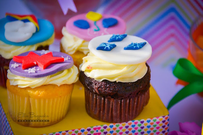 Cupcakes from a My Little Pony Birthday Party via Kara's Party Ideas   KarasPartyIdeas.com (36)