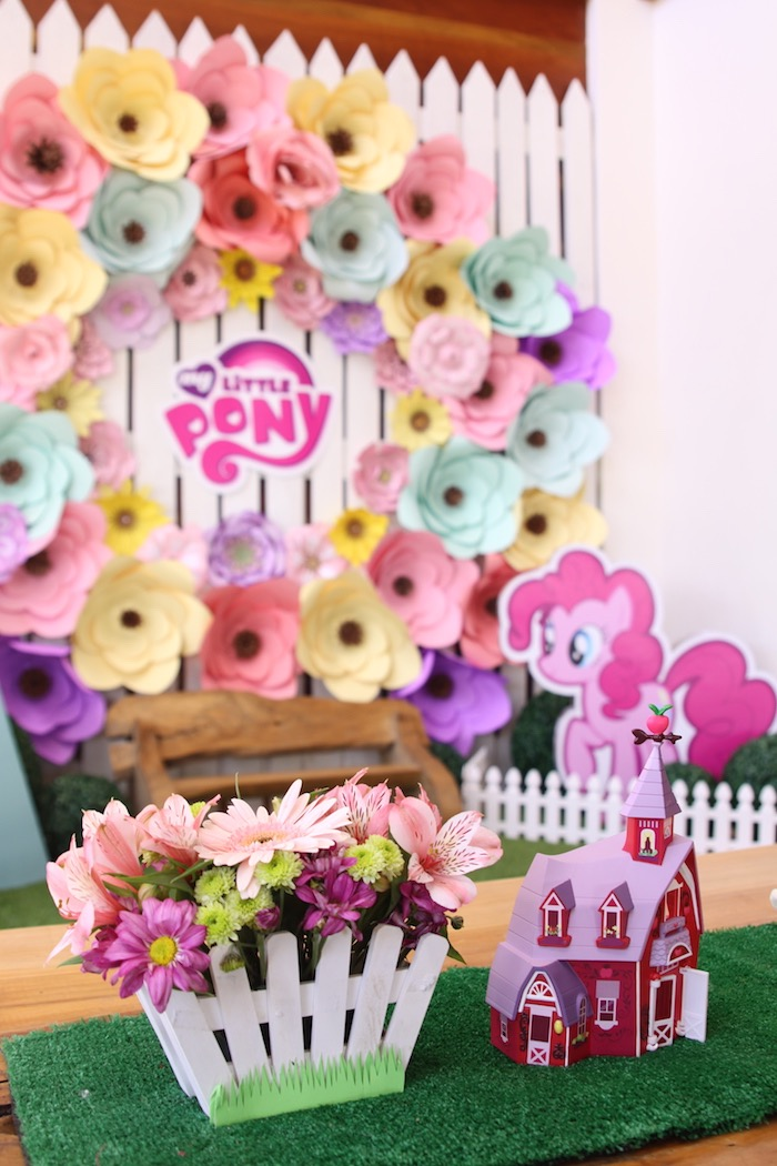 Centerpieces from a My Little Pony Pastel Birthday Party via Kara's Party Ideas | KarasPartyIdeas.com (26)
