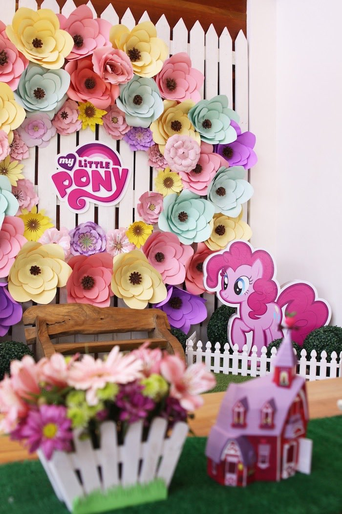 Party Backdrop My Little Pony Pastel Birthday Via Karas Ideas