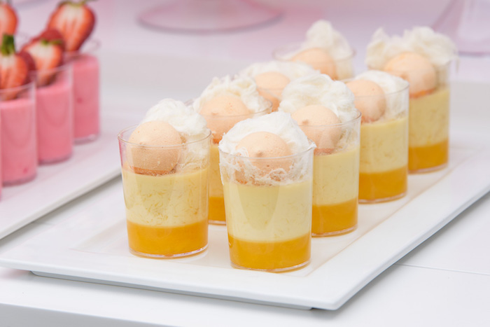 Mango pannacotta topped with fairy floss from a Pastel County Fair Themed Birthday Party via Kara's Party Ideas KarasPartyIdeas.com (9)