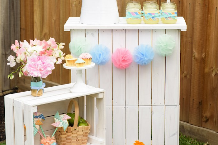 Party of the party setup from an adorable Pastel County Fair Themed Birthday Party via Kara's Party Ideas KarasPartyIdeas.com (13)