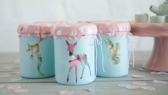Woodland Favor Jars from a Pastel Fairy Themed Birthday Party via Kara's Party Ideas | KarasPartyIdeas.com (18)