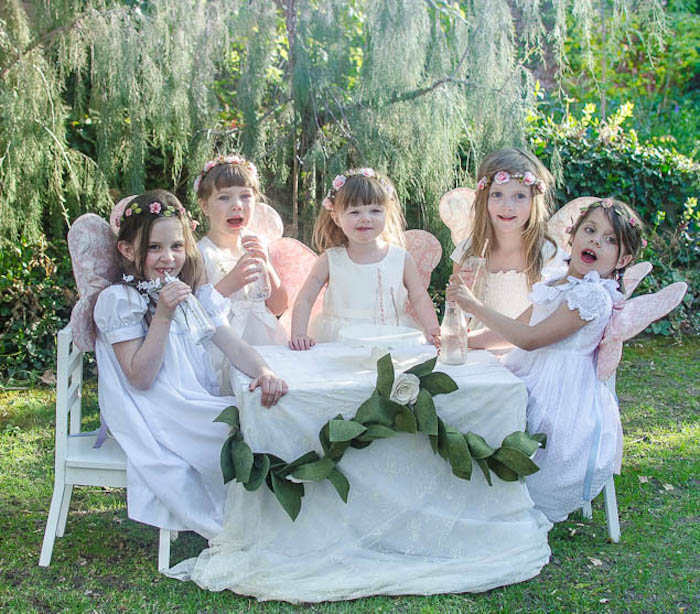 Little Guests from a Pastel Fairy Themed Birthday Party via Kara's Party Ideas | KarasPartyIdeas.com (17)