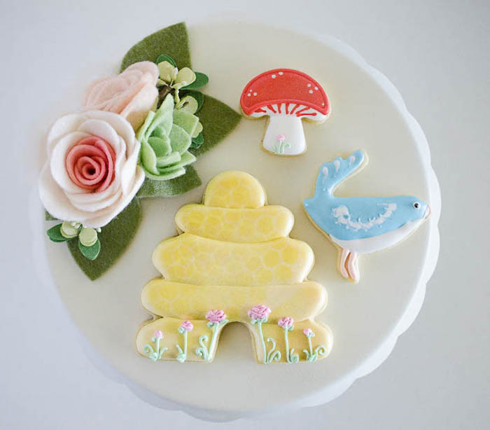Woodland Cookies from a Pastel Fairy Themed Birthday Party via Kara's Party Ideas | KarasPartyIdeas.com (10)