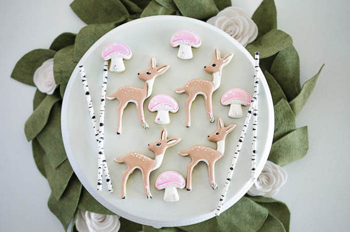 Woodland Cookies from a Pastel Fairy Themed Birthday Party via Kara's Party Ideas | KarasPartyIdeas.com (27)