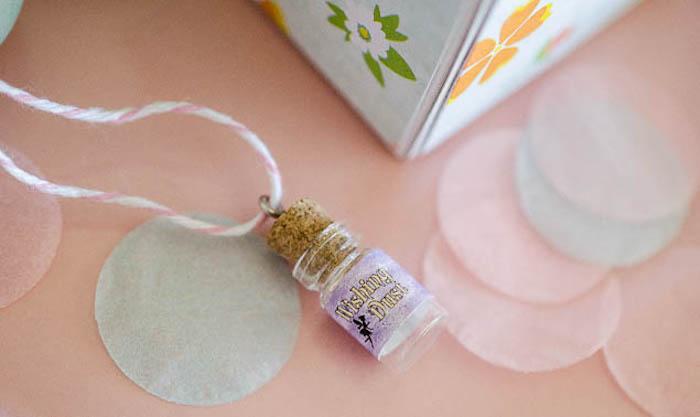 Fairy Dust Bottle Charm from a Pastel Fairy Themed Birthday Party via Kara's Party Ideas | KarasPartyIdeas.com (24)