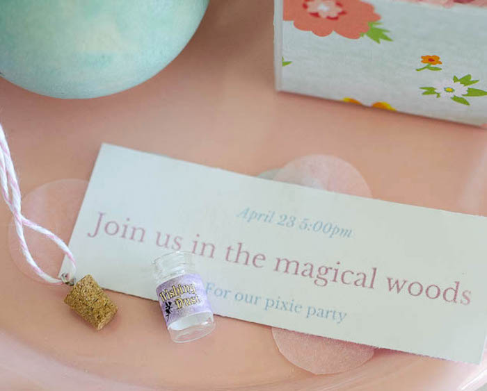 Invitation Details from a Pastel Fairy Themed Birthday Party via Kara's Party Ideas | KarasPartyIdeas.com (22)