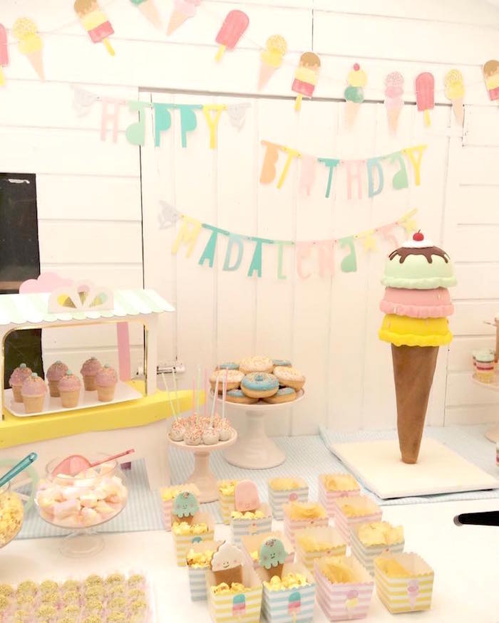 Pastel Ice Cream Party via Kara's Party Ideas | KarasPartyIdeas.com (2)