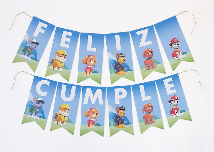 Paw Patrol Banner From A Birthday Party With FREE Printables Via Karas Ideas