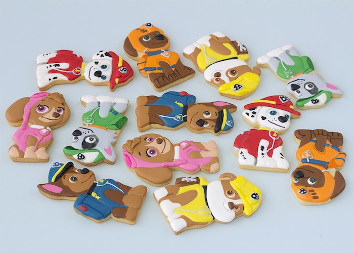 Paw Patrol Character Cookies From A Birthday Party With FREE Printables Via Karas