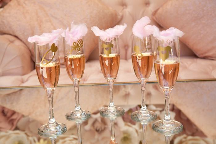 Champagne Flutes From A Pink Tutu Cute Themed Ballerina Baby Shower Via  Karau0027s Party Ideas |