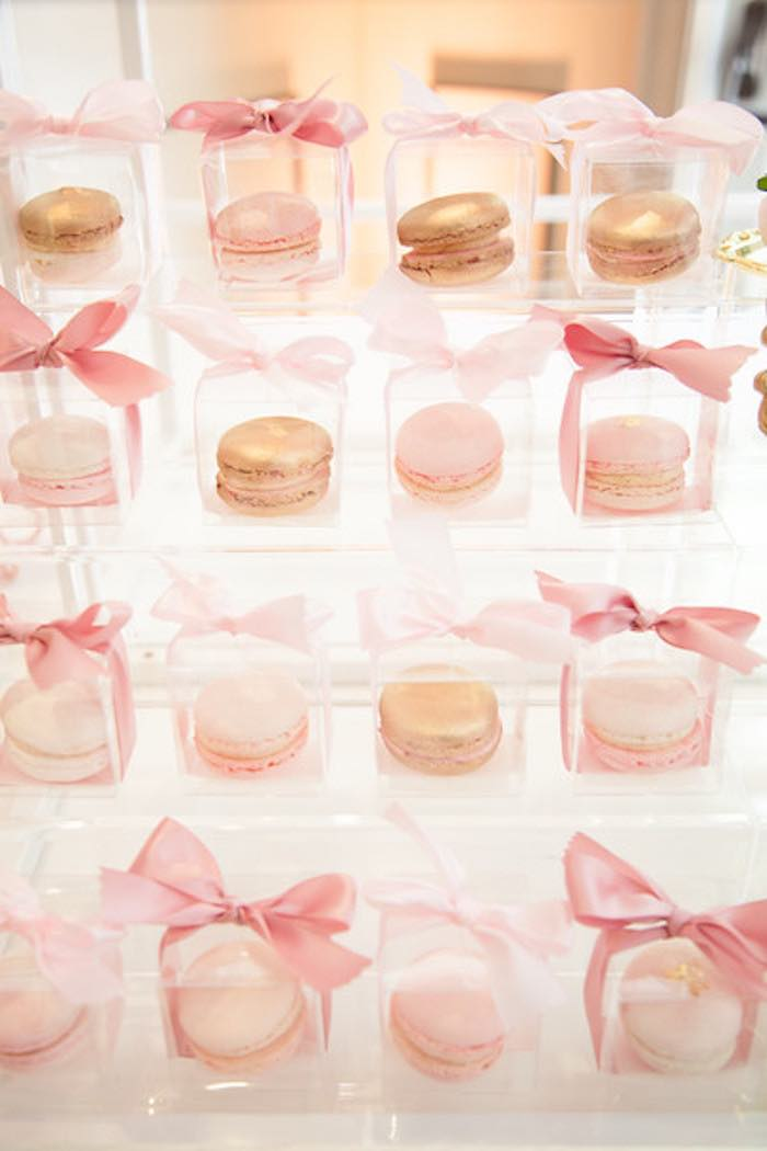 macarons from a pink tutu cute themed ballerina baby shower via kara 39 s