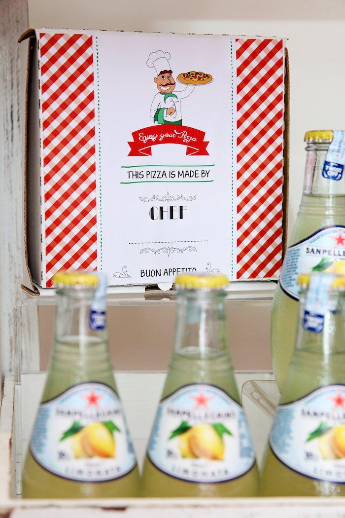 Pizza favor box from a Pizzeria Themed Birthday Party via Kara's Party Ideas KarasPartyIdeas.com (34)