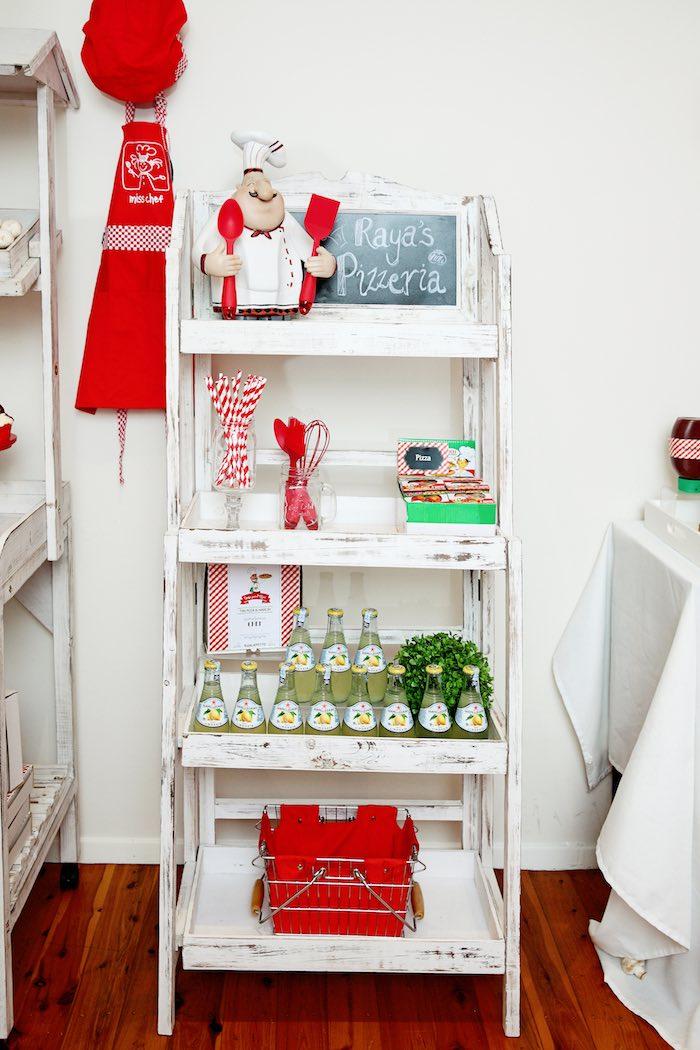 Shelf from a Pizzeria Themed Birthday Party via Kara's Party Ideas KarasPartyIdeas.com (28)