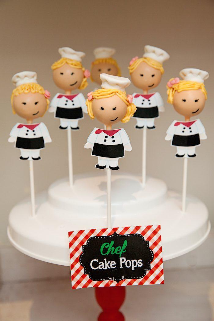 Chef cake pops from a Pizzeria Themed Birthday Party via Kara's Party Ideas KarasPartyIdeas.com (13)