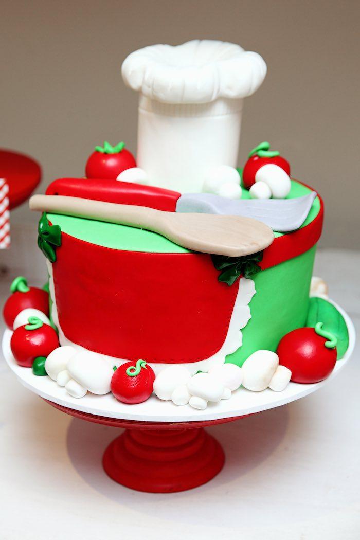 Cake from a Pizzeria Themed Birthday Party via Kara's Party Ideas KarasPartyIdeas.com (40)