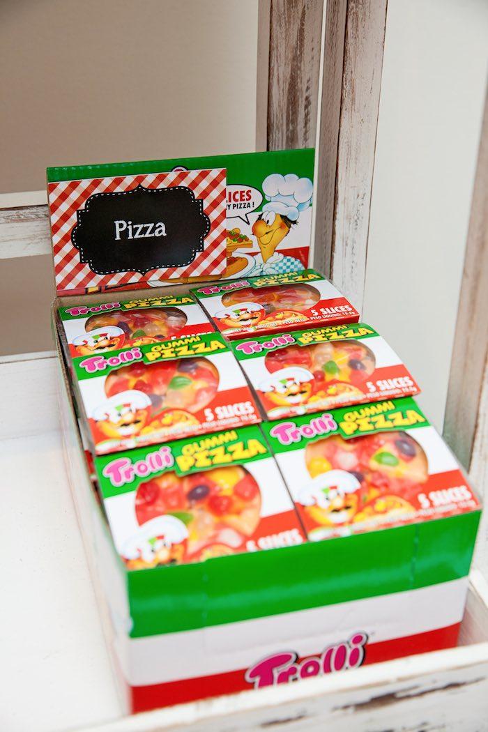 Candy pizza from a Pizzeria Themed Birthday Party via Kara's Party Ideas KarasPartyIdeas.com (37)