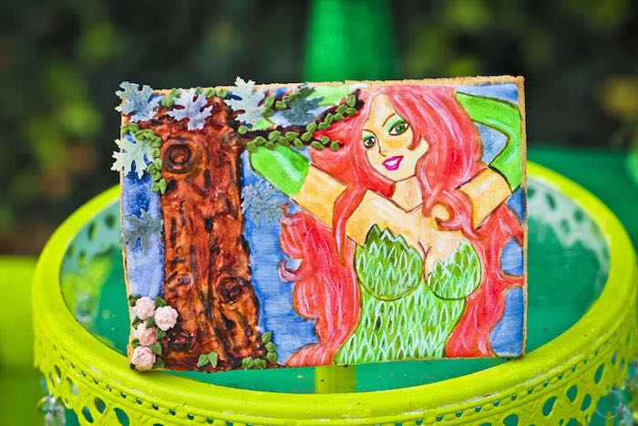 Custom art piece from a Poison Ivy Birthday Party via Kara's Party Ideas | KarasPartyIdeas.com (25)