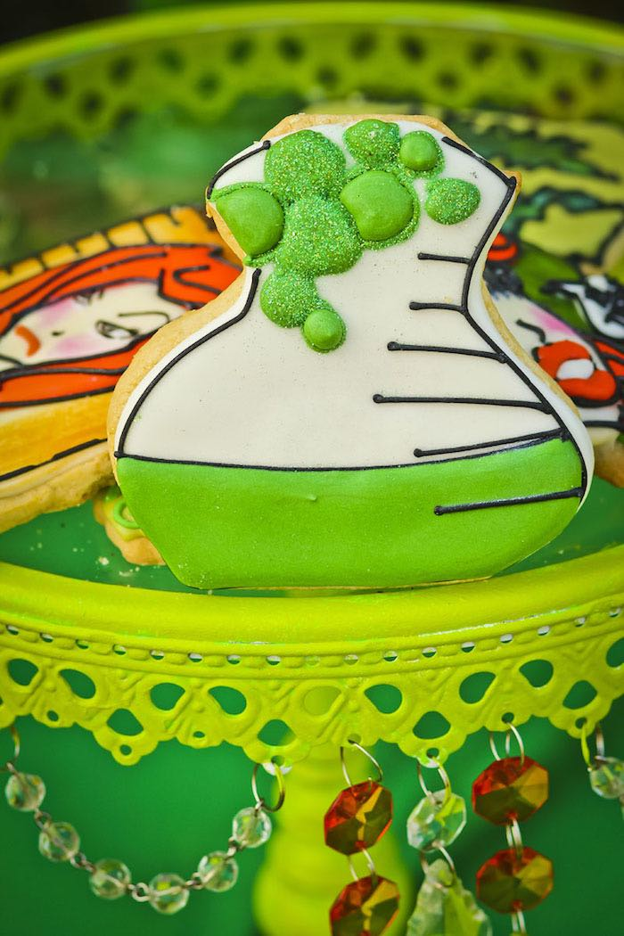 Cookie from a Poison Ivy Birthday Party via Kara's Party Ideas | KarasPartyIdeas.com (21)