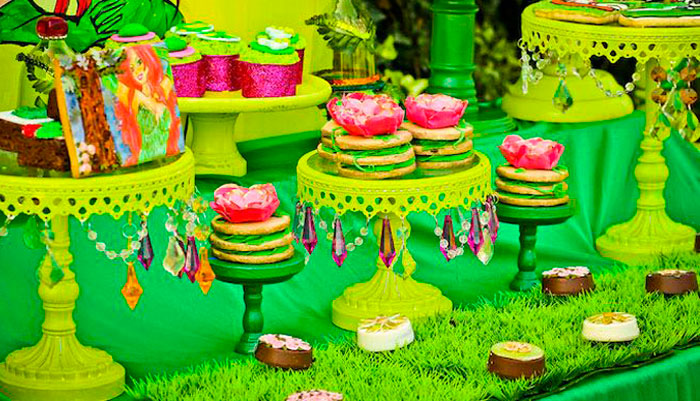 Dessert table details from a Poison Ivy Birthday Party via Kara's Party Ideas | KarasPartyIdeas.com (3)