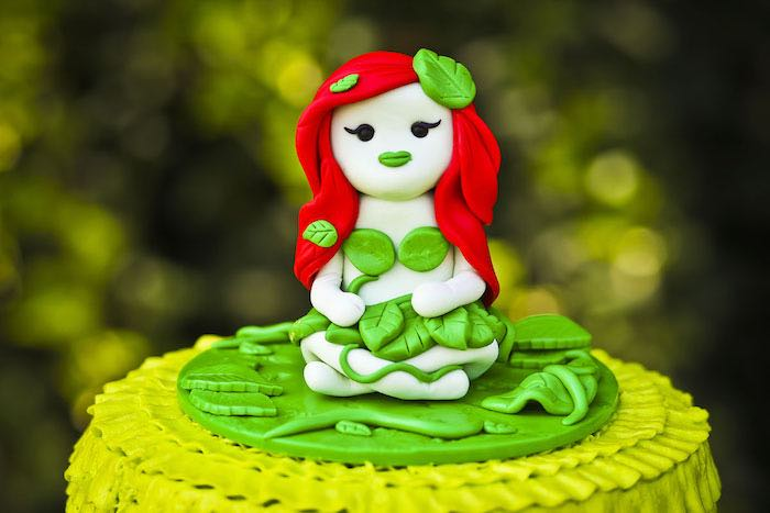 Poison Ivy cake topper from a Poison Ivy Birthday Party via Kara's Party Ideas | KarasPartyIdeas.com (38)